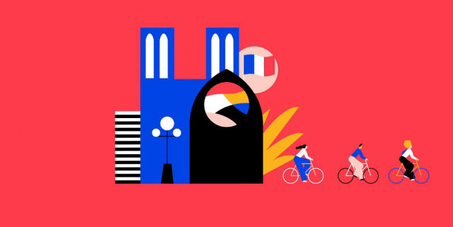 Airbnb Cycling Experiences animation explainer Illo | STASH MAGAZINE