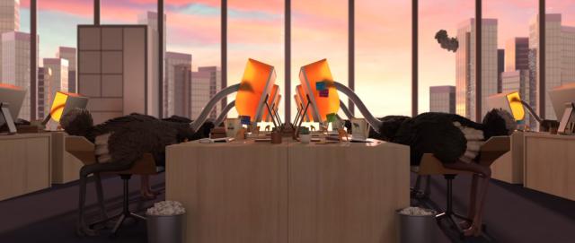 Ostrich Politic animated short film Mohammad Houhou Gobelins | STASH MAGAZINE