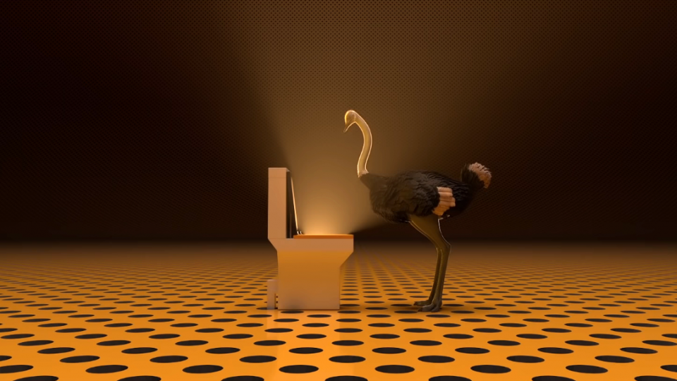 Ostrich Politic animated short film Mohammad Houhou Gobelins | STASH MAGAZINE