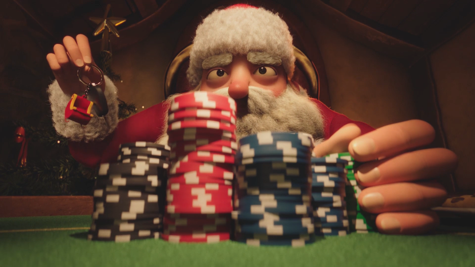 Xmas Hold 'Em animated short film Passion Animation Studios | STASH MAGAZINE