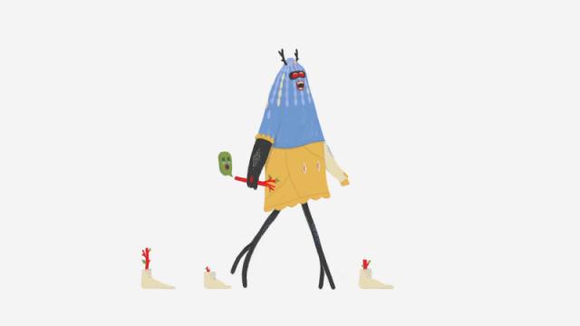 Sit Down and Walk animated short film by Fabio Valesini | STASH MAGAZINE