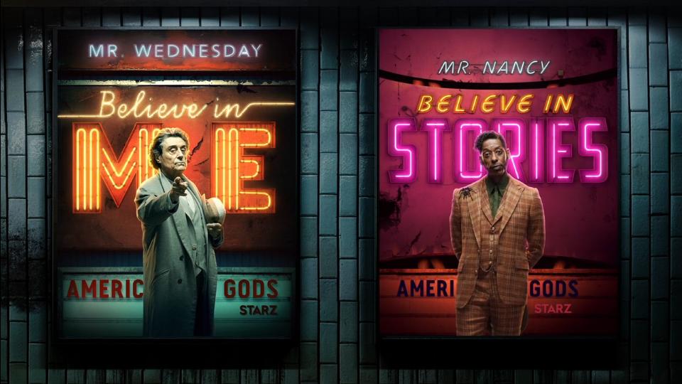 STARZ American Gods Season 2 motion posters | STASH MAGAZINE