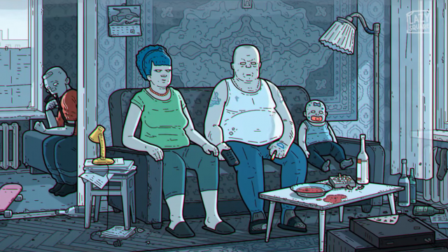 Simpsons Couch gag Russian Art Film Version by Lazy Square | STASH MAGAZINE