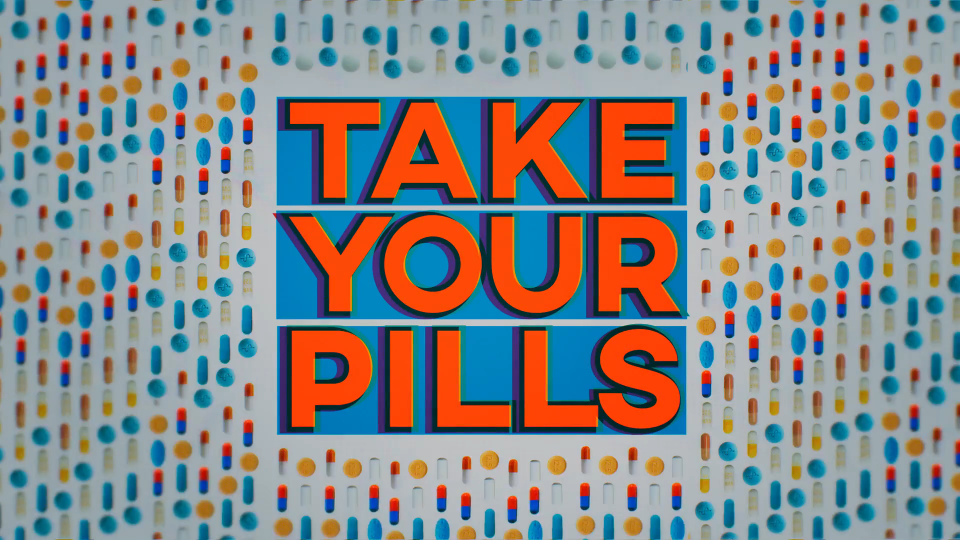 Netflix documentary Take your Pills Titles by Blue Spill | STASH