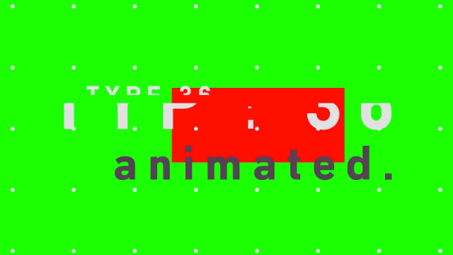 Type-36: New Animated Typeface from Animography