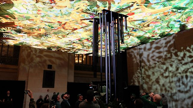 """HUSH Creates the """"Giving Tree"""" in Grand Central for Chobani"""