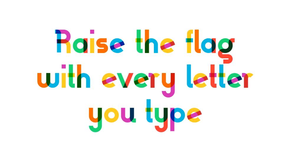 Gilbert baker typeface | STASH MAGAZINE