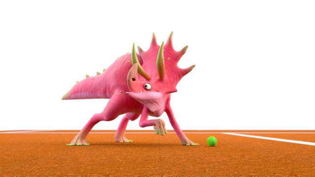 Dino Tennis 3D Short film | STASH MAGAZINE