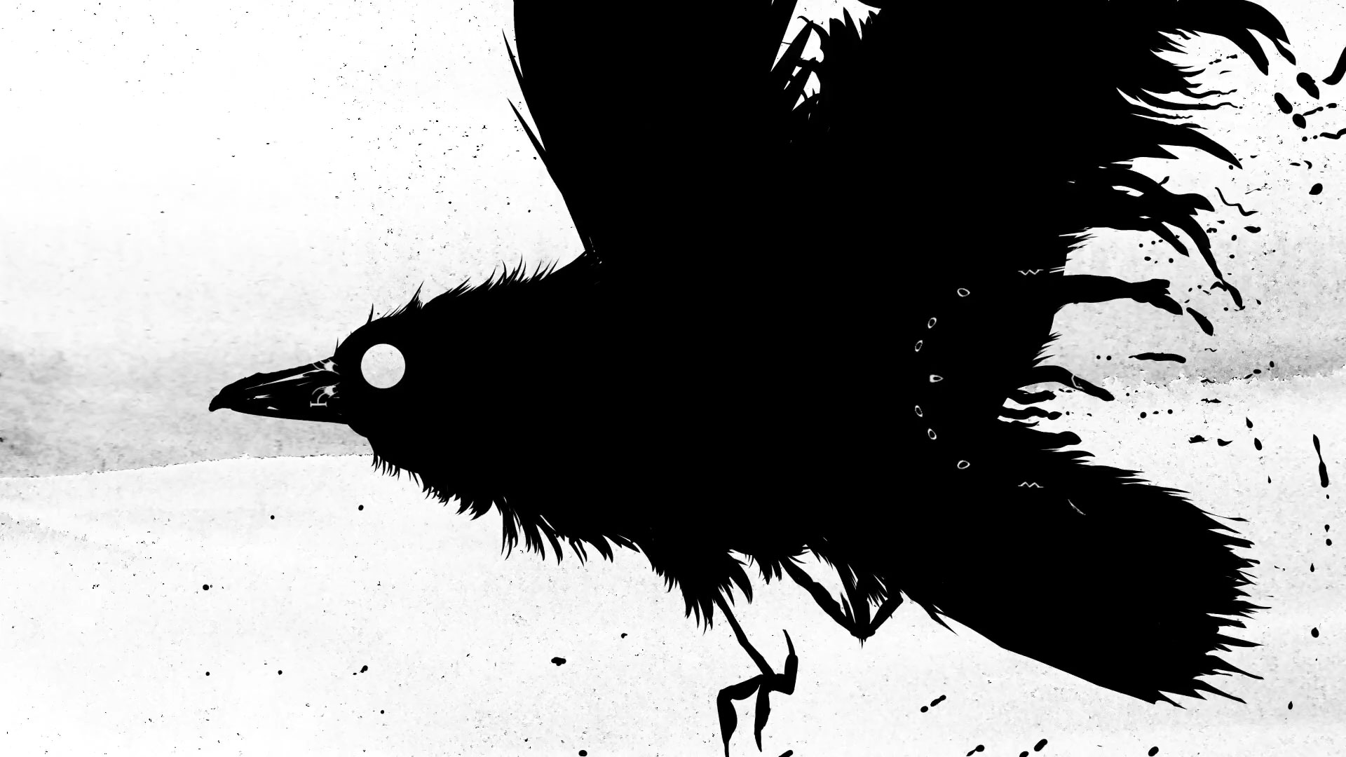 "Ted Hughes ""The Crow"" Animated Poetry by Playdead 