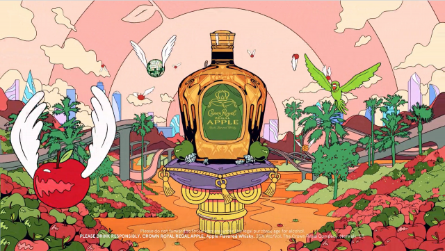Trippin' on Crown Royal Apple with Golden Wolf