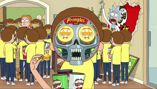 Rick and Morty Ride Pringles to the Super Bowl
