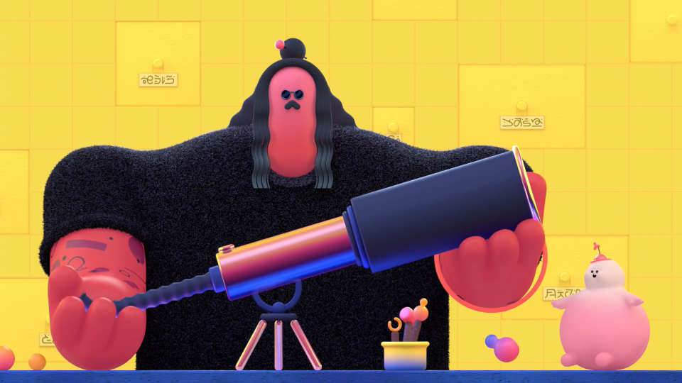The Telescope MTV Artist Ident by Matthieu Braccini | STASH MAGAZINE