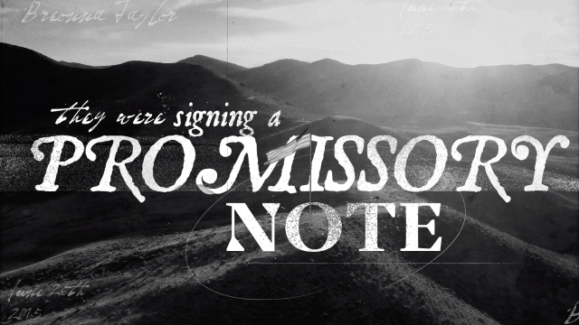 Promissory Note by Jazeel Gayle | STASH MAGAZINE