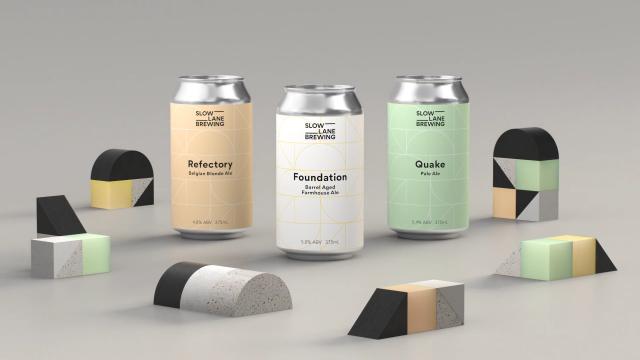 Slow Lane Brewery branding by Ben Nichols | STASH MAGAZINE