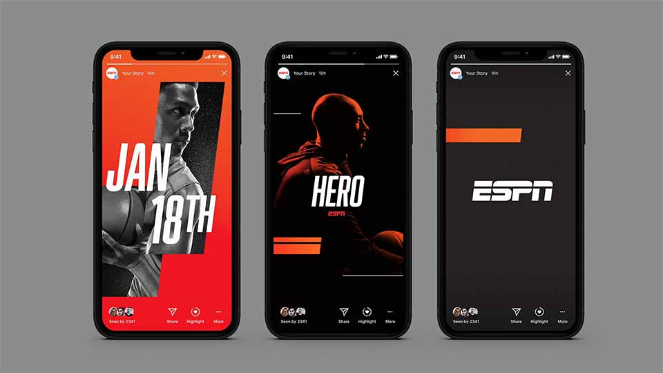 "ESPN ""Loud Channel Rebrand"" by Superestudio 