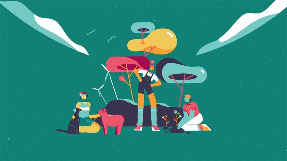 """The Vegan Society """"Teen Hub"""" by Dinos & Teacups"""