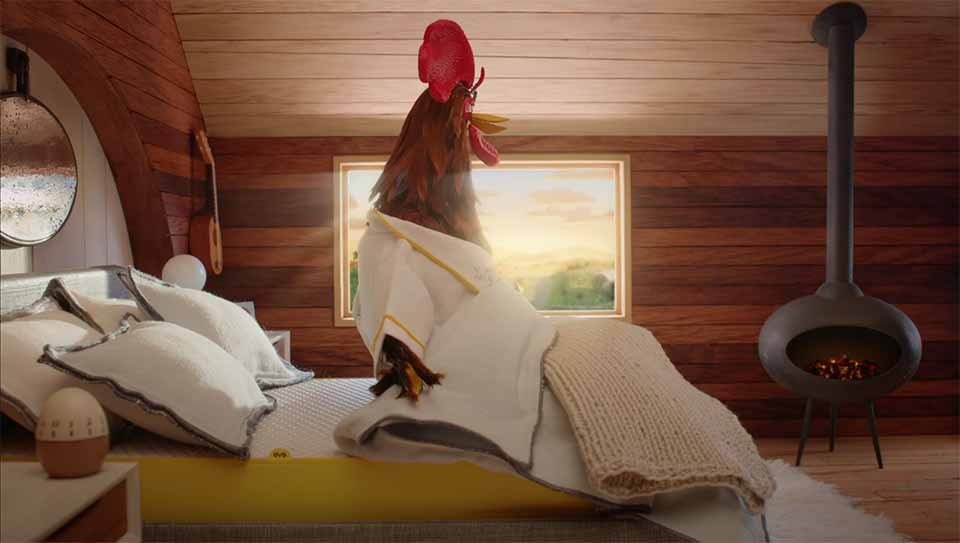 "Eve Sleep ""La Vie en Jaune - Le Coq"" Spot by Peter Sluszka 