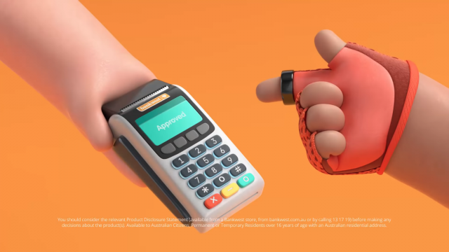 Bankwest Halo Payment Ring Buck animated spot | STASH MAGAZINE